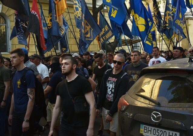 Una marcha nacionalista en Kiev (archivo)