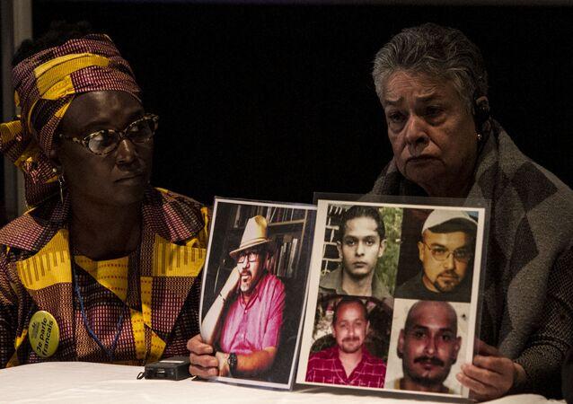 Mujeres de Senegal y México durante la cumbre de madres de migrantes desaparecidos