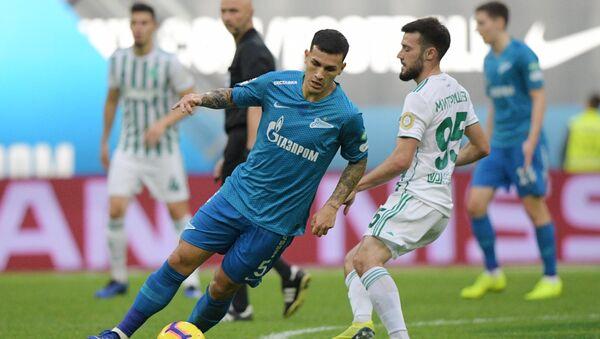 Leandro Paredes, jugador argentino del Zenit de San Petersburgo, durante el partido contra el Ajmat de Grozny. - Sputnik Mundo