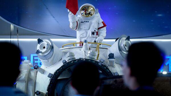 Maqueta del 'Palacio Celestial', la estación espacial habitable china, expuesta en Airshow China-2018 - Sputnik Mundo