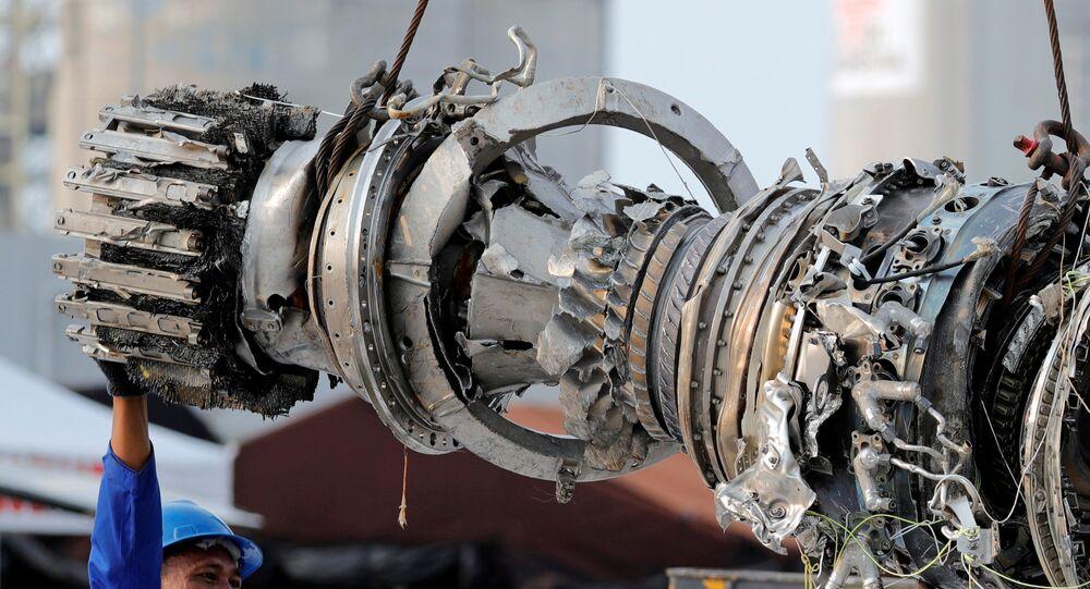 Turbina del avión Lion Air