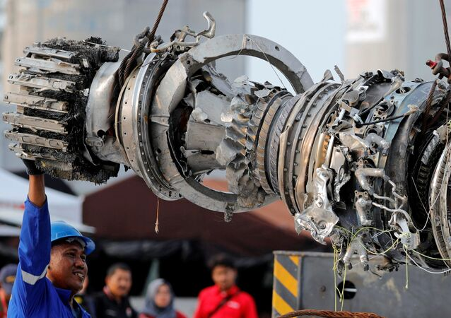 Turbina del avión Lion Air