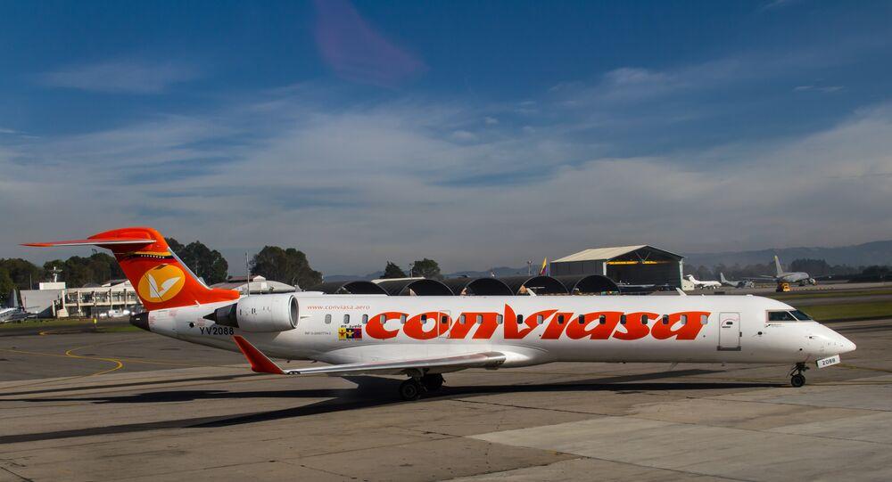 Un avión de la compañía aérea venezolana Conviasa (imagen referencial)