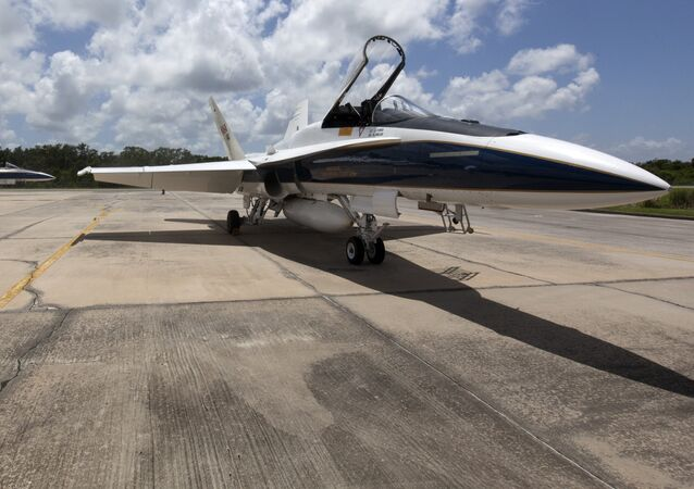 Un F/A-18 de la NASA, foto archivo