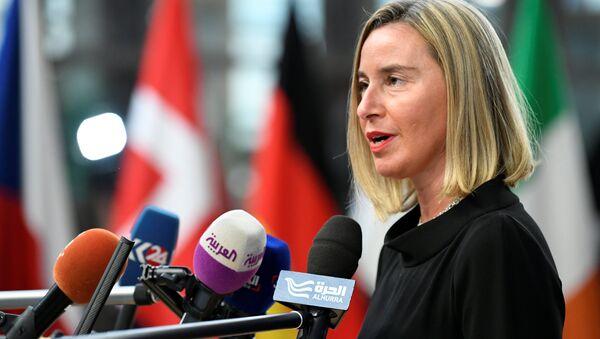 Federica Mogherini, la jefa de la diplomacia europea - Sputnik Mundo