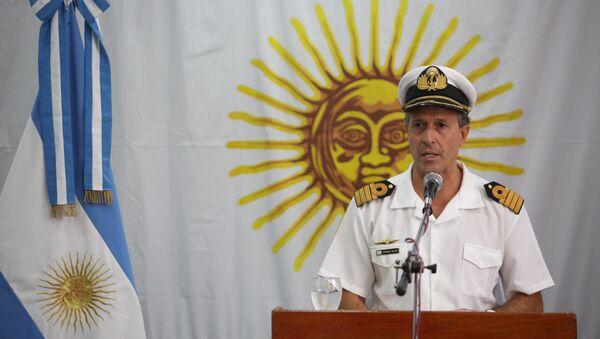 Enrique Balbi, portavoz de la Armada argentina y principal interlocutor de la fuerza a raíz de la desaparición del submarino San Juan - Sputnik Mundo