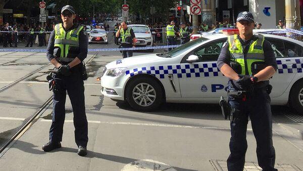 La policía australiana en Melbourne - Sputnik Mundo