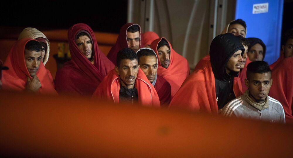 Llegada de migrantes a España (archivo)