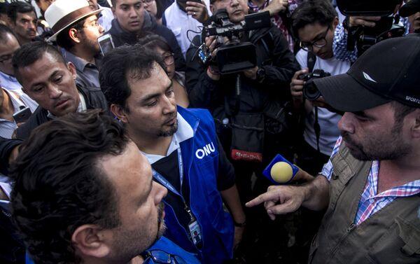 Jorge Nava y Milton Benítez discuten el pedido reunión con representantes de la ONU - Sputnik Mundo