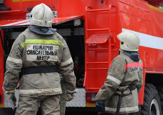 Bomberos rusos (archivo)