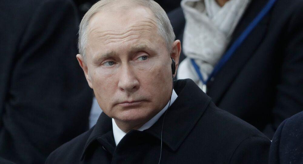 El presidente ruso, Vladímir Putin, en París