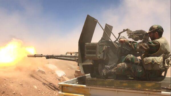Un soldado del Ejército sirio (archivo) - Sputnik Mundo