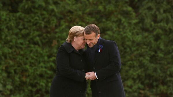 Angela Merkel, canciller de Alemania, y Emmanuel Macron, presidente de Francia - Sputnik Mundo