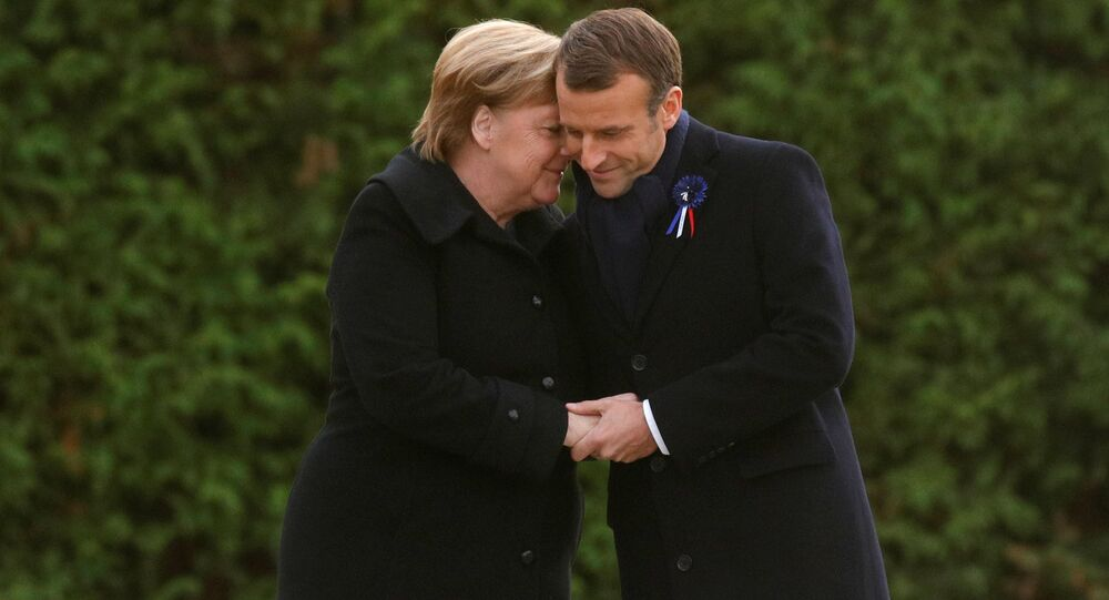 Angela Merkel, canciller de Alemania, y Emmanuel Macron, presidente de Francia