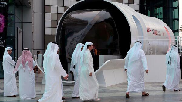 El prototipo de la cápsula de Hyperloop en Dubái (archivo) - Sputnik Mundo