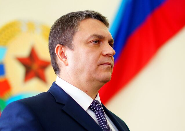 Leonid Pásechnik, jefe de la autoproclamada República Popular de Lugansk (RPL)  (archivo)