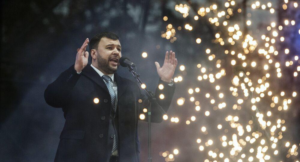 Denís Pushilin, jefe interino de la autoproclamada República Popular de Donetsk (RPD)