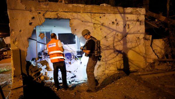 Destrucciones en la ciudad israelí de Ascalón tras el ataque del 12 de noviembre - Sputnik Mundo