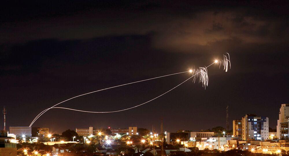 La Cúpula de Hierro intercepta misiles lanzados desde la Franja de Gaza