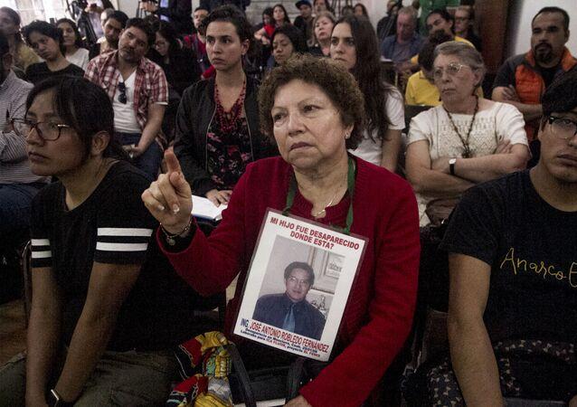 """Guadalupe Fernández que busca a su hijo José Antonio Robledo Fernández, felicita al equipo de investigación por su proyecto """"A donde van los desaparecidos"""""""