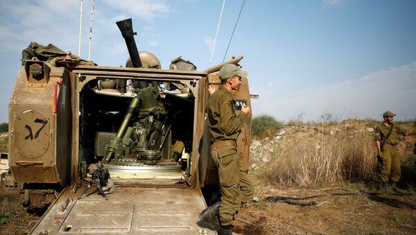 Militares israelñies en Gaza - Sputnik Mundo