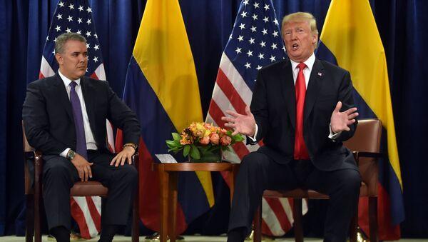 Iván Duque, presidente de Colombia y Donald Trump, presidente de EEUU - Sputnik Mundo