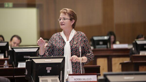 La legisladora ecuatoriana Norma Vallejo - Sputnik Mundo