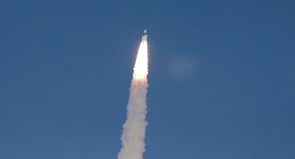 El lanzamiento de un satélite (archivo)