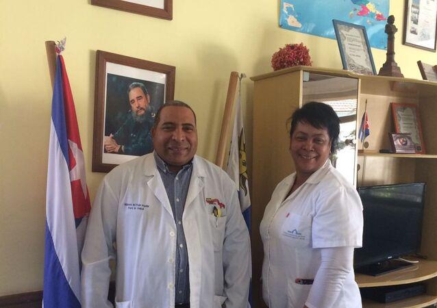 Médicos cubanos de la misión Operación Milagro en Uruguay