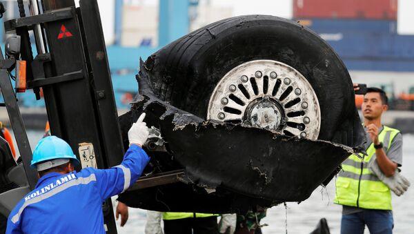 Los escombros del vuelo JT610 de Lion Air, Indonesia - Sputnik Mundo