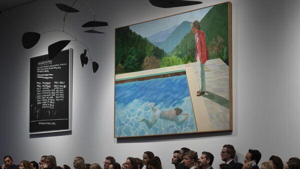 El cuadro del pintor británico David Hockney 'Portrait of an Artist (Pool with two figures)' - Sputnik Mundo