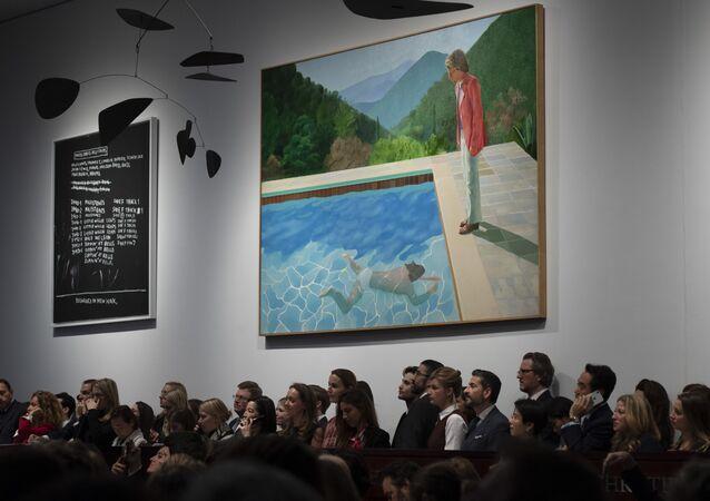 El cuadro del pintor británico David Hockney 'Portrait of an Artist (Pool with two figures)'