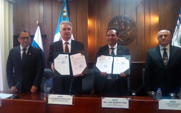 Rusia y Guatemala sellan cooperación enrte dos universidades - Sputnik Mundo