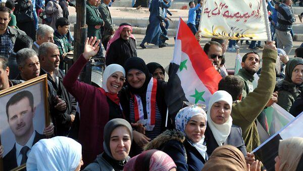 Los habitantes de Deraa celebran su liberación de los terroristas - Sputnik Mundo