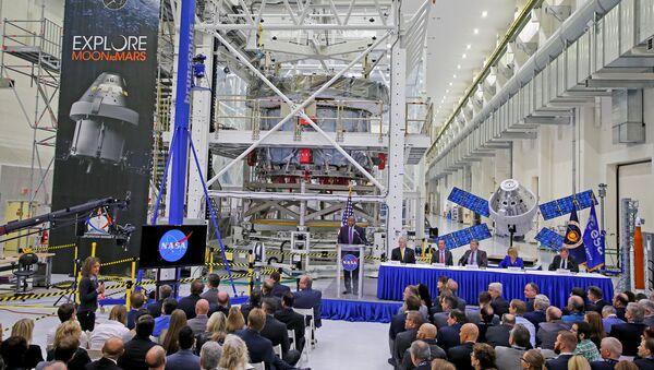 Módulo europeo para nave Orion en el Centro Espacial Kennedy - Sputnik Mundo