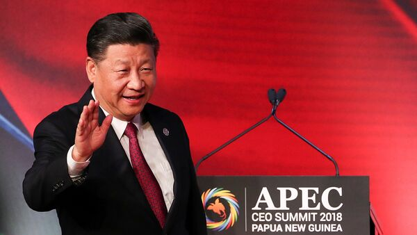 El presidente de China, Xi Jinping, durante la cumbre de la APEC - Sputnik Mundo