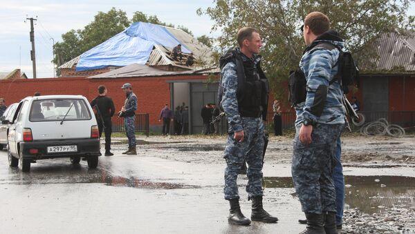 Policías de Chechenia (archivo) - Sputnik Mundo
