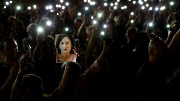 Protestas contra el asesinato de la periodista Daphne Caruana Galizia - Sputnik Mundo