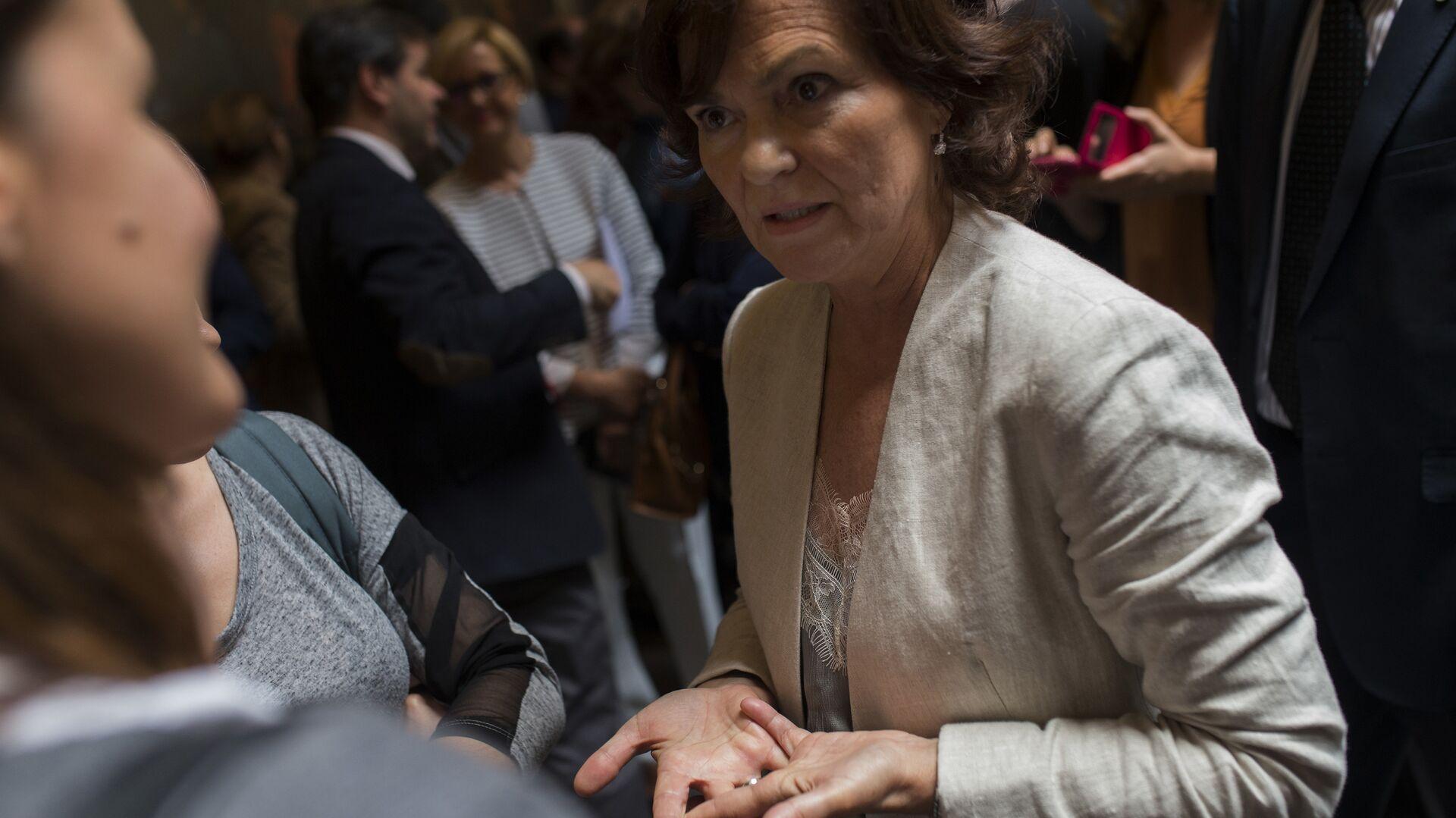 Carmen Calvo, vicepresidenta del Gobierno español - Sputnik Mundo, 1920, 16.04.2021