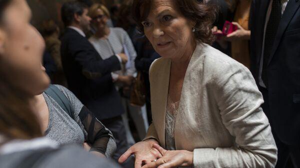 Carmen Calvo, vicepresidenta del Gobierno español - Sputnik Mundo