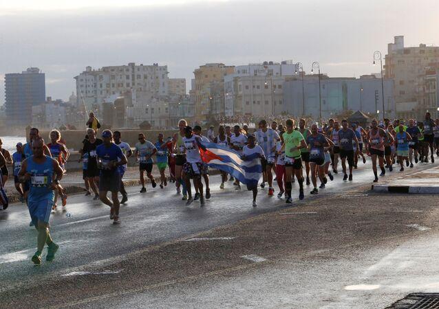 XXXII maratón del Marabana en La Habana