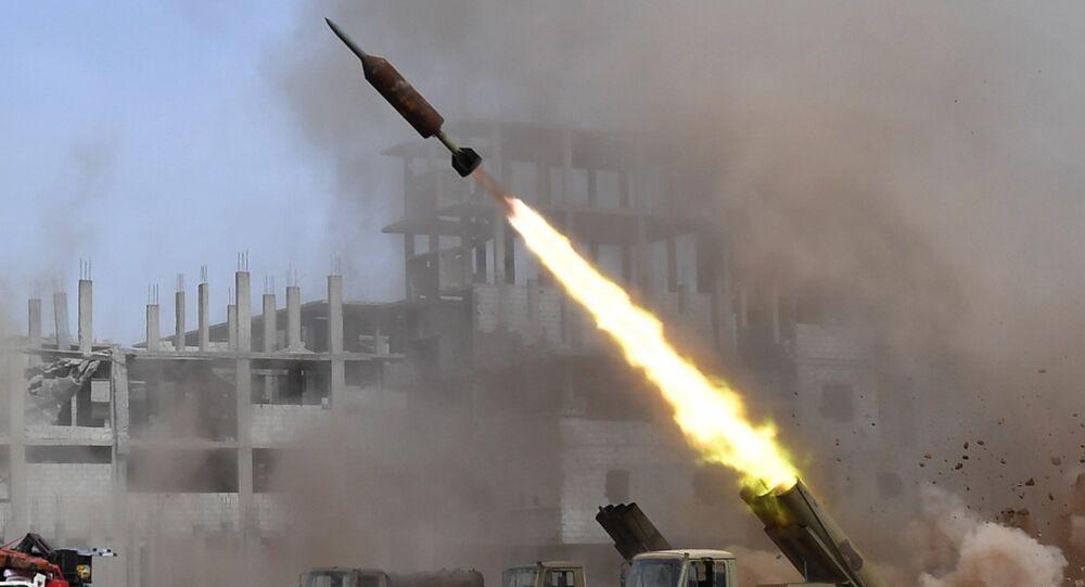 Lanzacohetes múltiples Golan-400 en Siria (archivo)