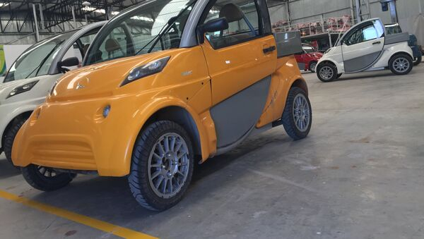 Un modelo de los autos eléctricos Sero Electric - Sputnik Mundo