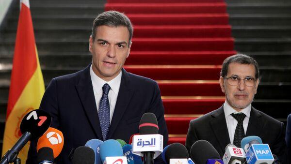 El presidente del Gobierno español, Pedro Sánchez, y su homólogo marroquí, Saadeddine el-Othmani - Sputnik Mundo