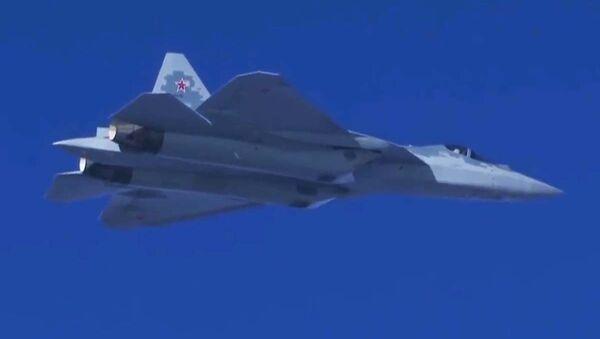 Los novedosos cazas Su-57 surcan los cielos sirios - Sputnik Mundo