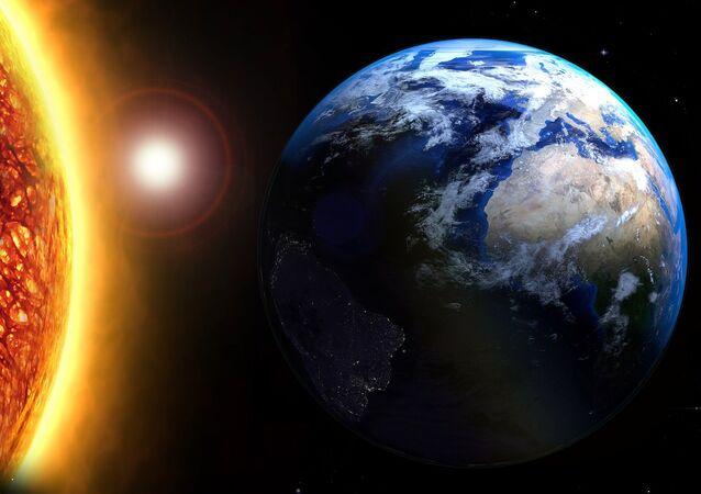 La Tierra y el sol