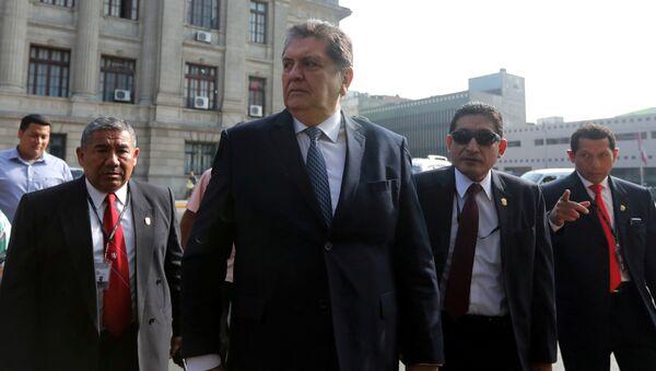 Alan García, expresidente de Perú - Sputnik Mundo