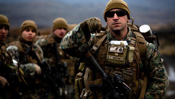 Cuerpo de Marines de EEUU durante las maniobras de la OTAN Trident Juncture 2018, Islandia, 19 de octubre de 2018 - Sputnik Mundo