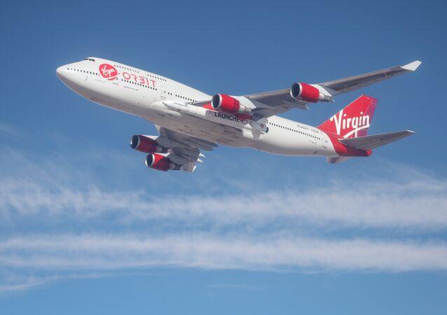 Un Boeing 747 de Virgin Orbit, foto archivo