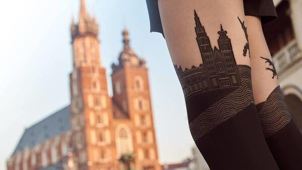 Unas medias con la imagen de la Basílica de Santa María - Sputnik Mundo